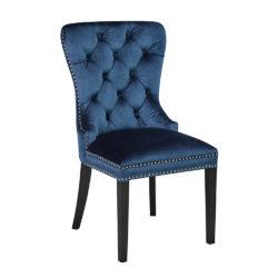 Euphoria Blue Velvet Dining Chair