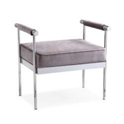 Helen Grey Velvet Chair